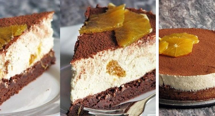 """Torte """"Tiramisu"""" ar apelsīniem: ātrā un viegli pagatavojamā recepte"""