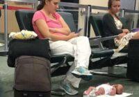 Viņa nolika bērnu stacijā uz grīdas, bet pati pievērsās savam telefonam. Lūk, ko pēc tam ar viņu izdarīja internets…
