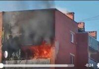 Ogrē šovakar aizdedzies daudzdzīvokļa mājas 8. stāva dzīvoklis; Saimniece mirusi