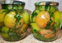 Ar 50 burciņām būs par maz! Zaļie tomāti Kaukāzu gaumē