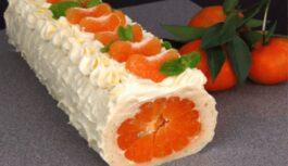 Rulete ar mandarīniem. Ziemassvētkos būs pieprasītākā recepte!
