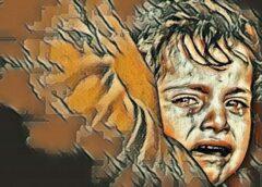 Vakarā ejot mājās, Vaļai pavērās briesmīgs skats – viņa dzirdēja bērna kliedzienus un raudāšanu
